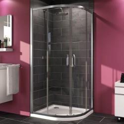 Pusapaļās dušas durvis