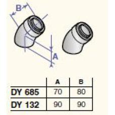 Dūmvada līkumi 45* D60/100 (2 gab.), DY685