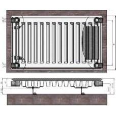Radiators 11x400x1100 sānu piesl. Termolux