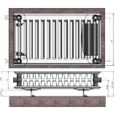 Radiators 22x600x700 sānu piesl. Termolux