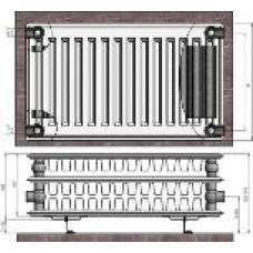 Radiators 33x300x1400 sānu piesl. Termolux
