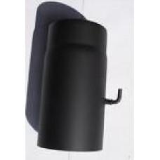Melnā dūmvada caurule 250x2mm D130 ar šīberi
