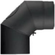 Melnais dūmvada līkums 90° D160 ar revīziju