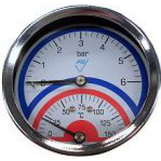 "Termomanometrs WP80 T1/2"" 0-6bar/150*C Prematlak"