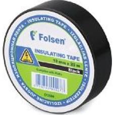 Izolācijas lenta melna 19mm x 20m PVC Folsen
