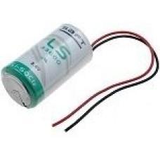 Baterija litija ''D'' tipa, 3,6V DC ar vadiņiem