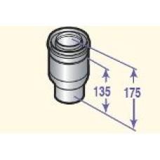 Dūmvada pāreja no 60/100 uz 80/125, DY708