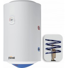 Kombi.boiler. 100 l vertikalais Calypso MT 2 spirāles