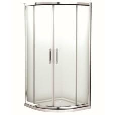 Geo 6 Easy pusapaļa duškabīne 90x90/190cm, bīdāmas durvis, caurspīdīgs stikls