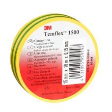 Temflex izolācijas lente 19mm dzelten-zaļa 19mmx20mx0,15mm