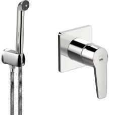 SAGA dušas maisītājs, virsapmetuma daļa+bidetta, hroms