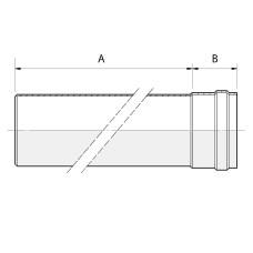PL caurule ar uzmavu 450mm, DN80