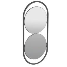 Simas Wave spogulis 30x70cm matēts melns