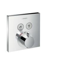 ShowerSelect iebūvējama dušas termostata virsapmetuma daļa, 2-funkciju, hroms